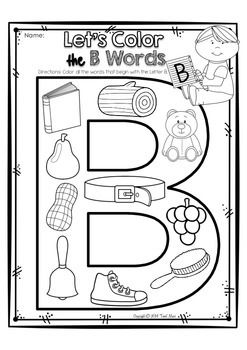 ALPHABET LETTER OF THE WEEK B - TeachersPayTeachers.com