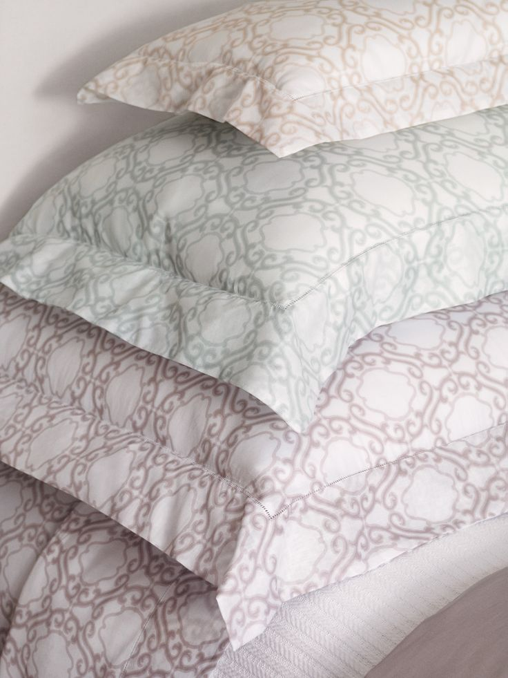 Soft and light as air--SFERRA's Elda voile bed linens, the perfect summer sleeper.