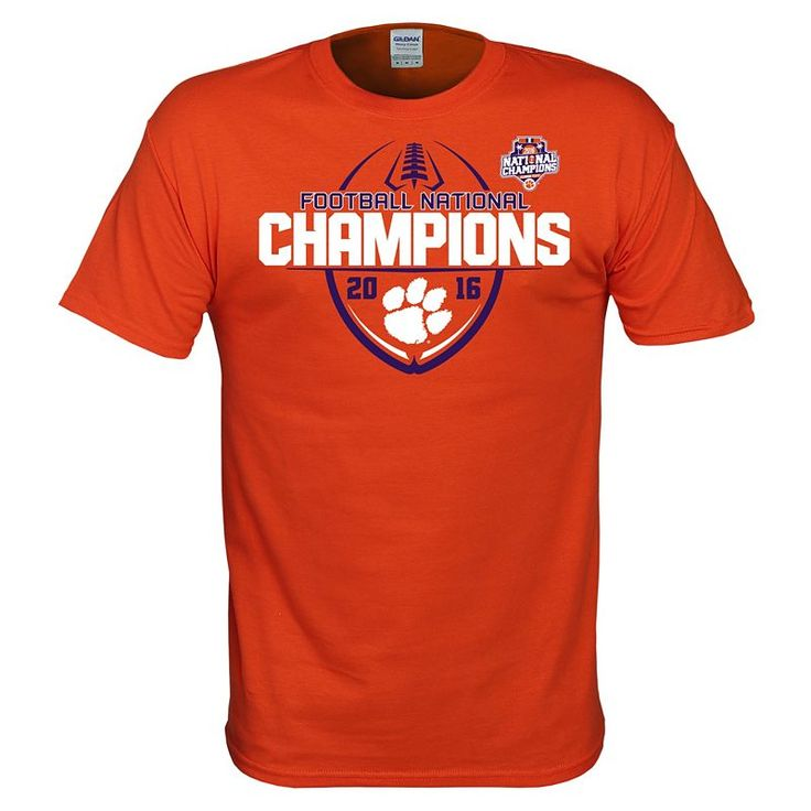 Men's Clemson Tigers 2016 College Football Playoff National Champions Victory Ball Tee, Orange