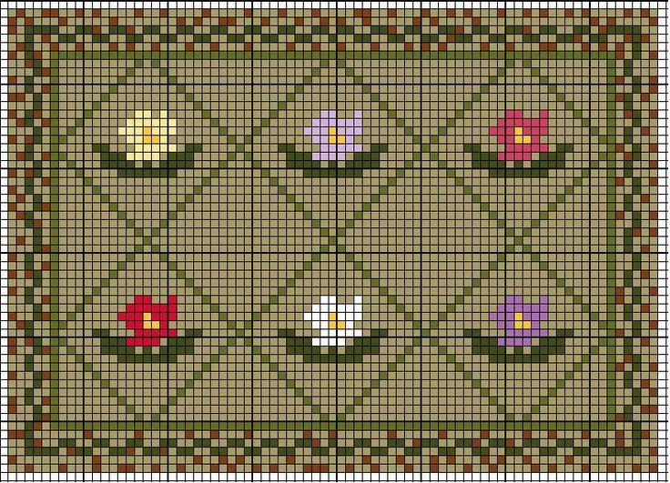 dollhouse cross stitch rug chart | Miniatures - needlework ...