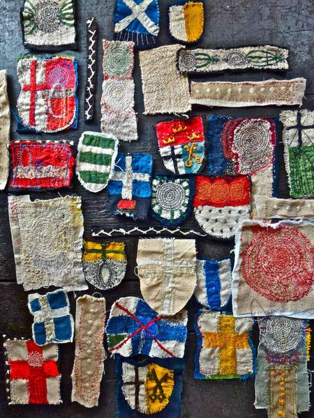 Junko Oki  Make your own travel patches??