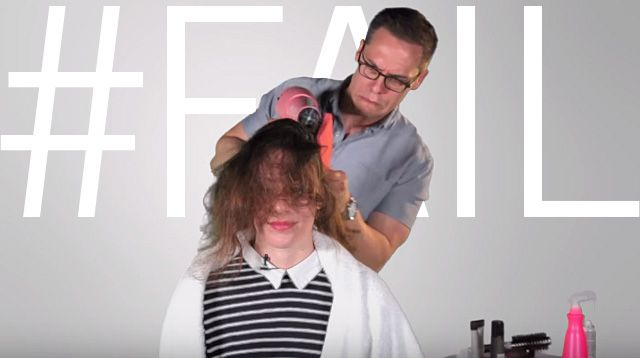 Watch Clueless Guys Try To Give Their Girlfriends Blowouts