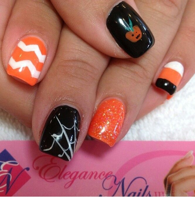 Fun Fall Nail Designs: 103 Best Images About Halloween / Fall Nails On Pinterest
