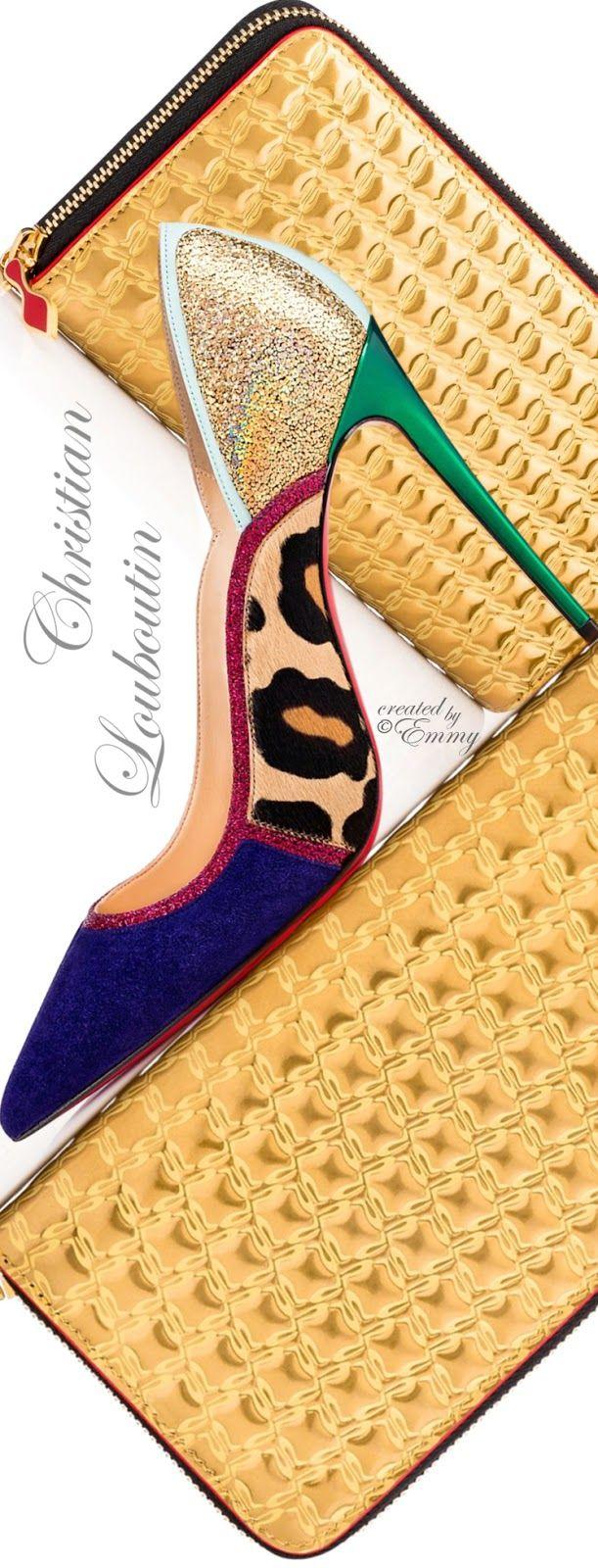 Christian Louboutin 'Serianina' Veau Velours-Pony & 'Panettone' Zipped Continental Wallet