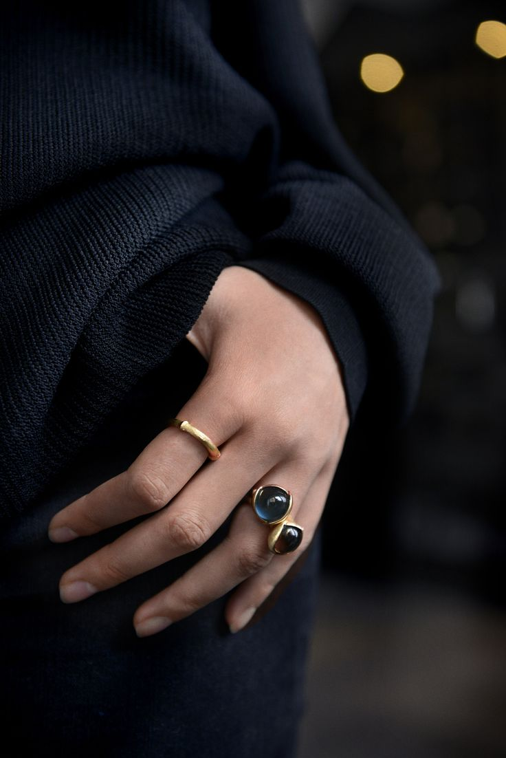 AUTUMN LOOKS 2015 by Ole Lynggaard Copenhagen Nature ring and Lotus rings Designed by Charlotte Lynggaard