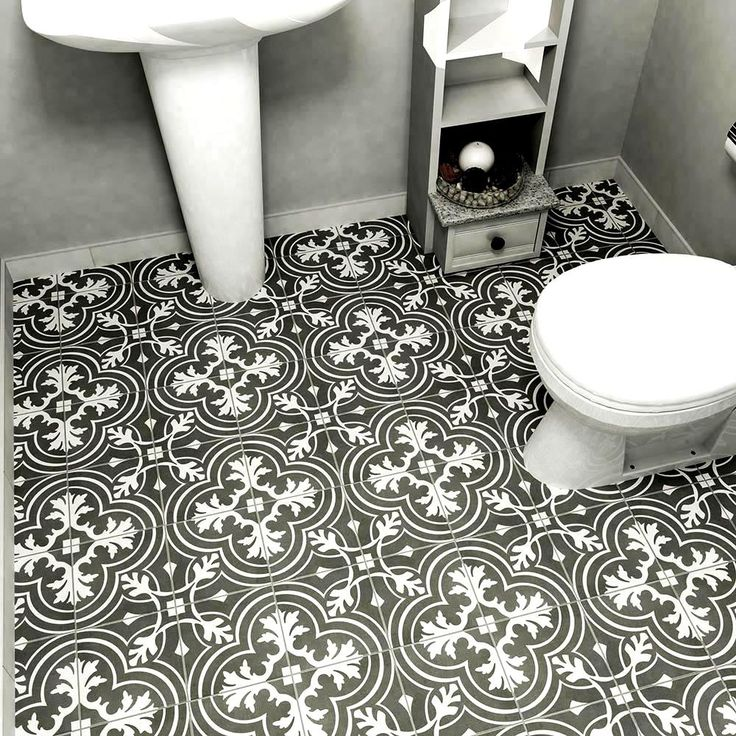Porcelain and ceramic tiles that look like authentic encaustic cement tiles but for less money than you'd pay for the real thing. Found at Home Depot. Twenties Classic shown above