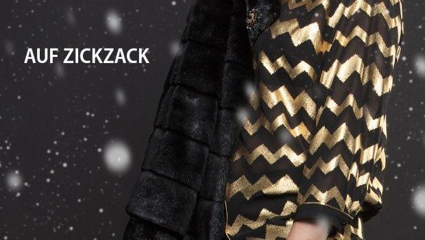 Maloo Bluse mit Zickzack-Druck