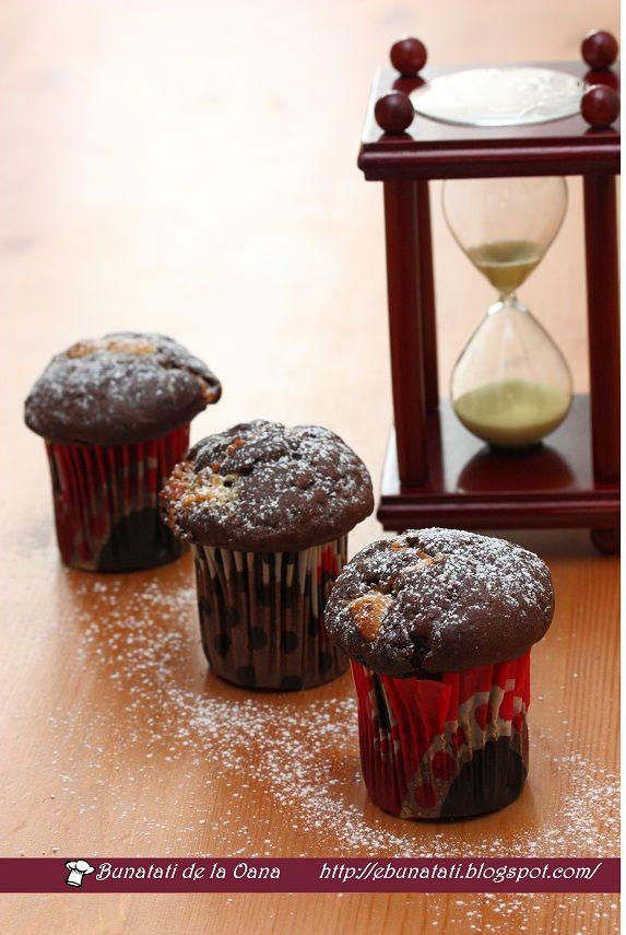 Briose cu multa ciocolata :: Bunatati de la Oana