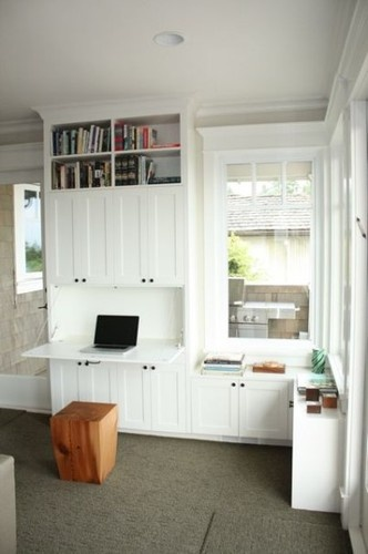 How about this fold down desk?