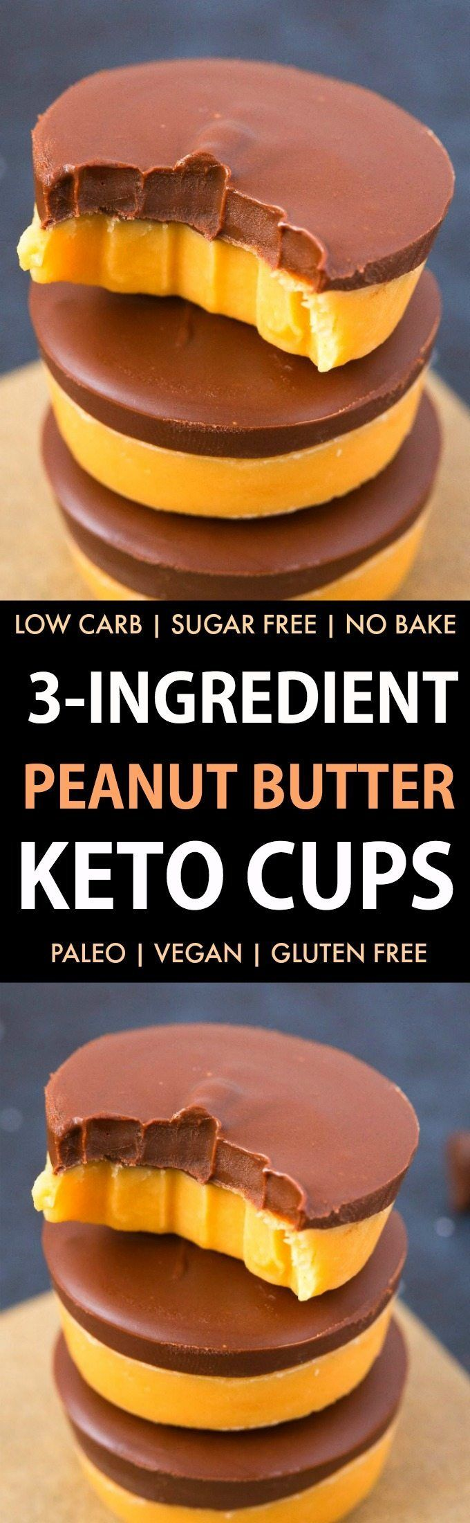3-Ingredient Keto Peanut Butter Fudge (Paleo, Low Carb, Vegan, Sugar Free, Gluten Free)- Easy, smooth and creamy peanut butter fudge recipe using just 3 ingredients and needing 5 minutes! The Perfect snack or dessert to satisfy the sweet tooth! #keto #low