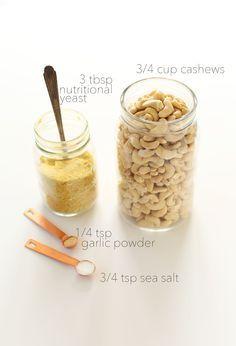 Vegan Parmesan Cheese Recipe/http://minimalistbaker.com/how-to-make-vegan-parmesan-cheese/