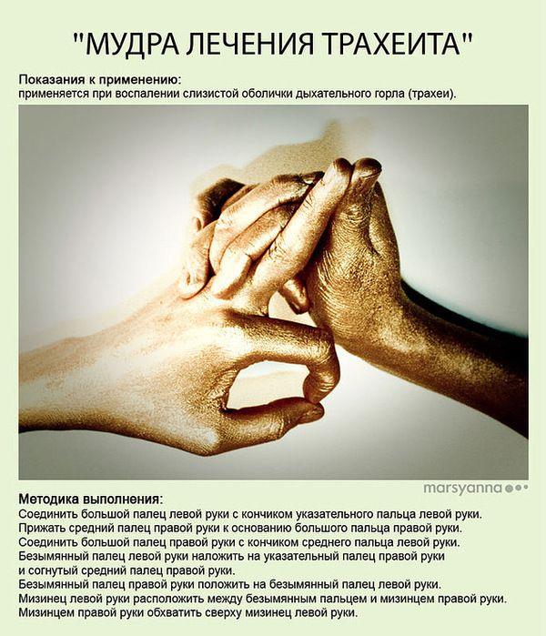 Мудра лечения трахеита