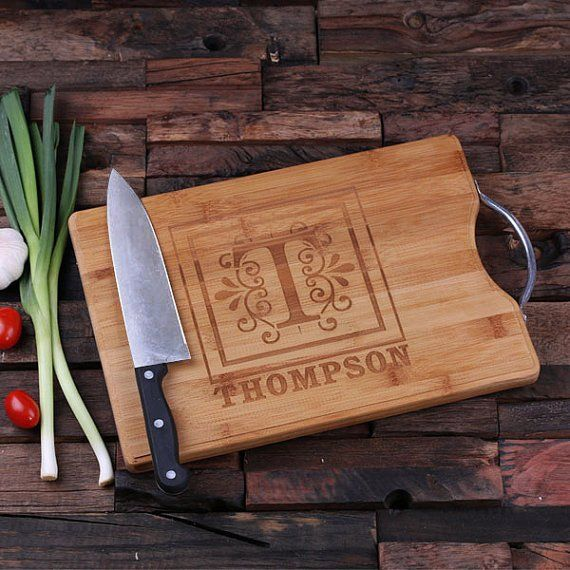 "This handy robust chopping board makes an excellent wedding gift, mother or father's day gift. 9.5″ x 13.5″ x 1″, Natural Wood During checkout, click on ""Add a note to your order"" for any additional i"