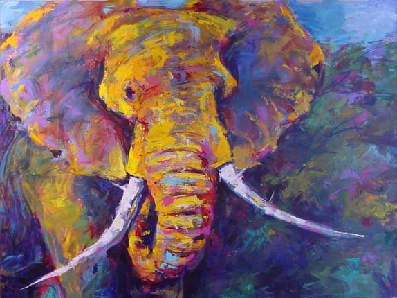 Abstract animal paintings artful animals opens at for Abstract animal paintings