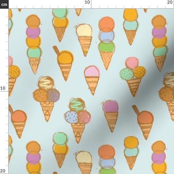 Ice Cream Summer Treat Blue Tiefkühlkostgewebe – Eiscreme {Blau} von Ceciliamok …   – Products