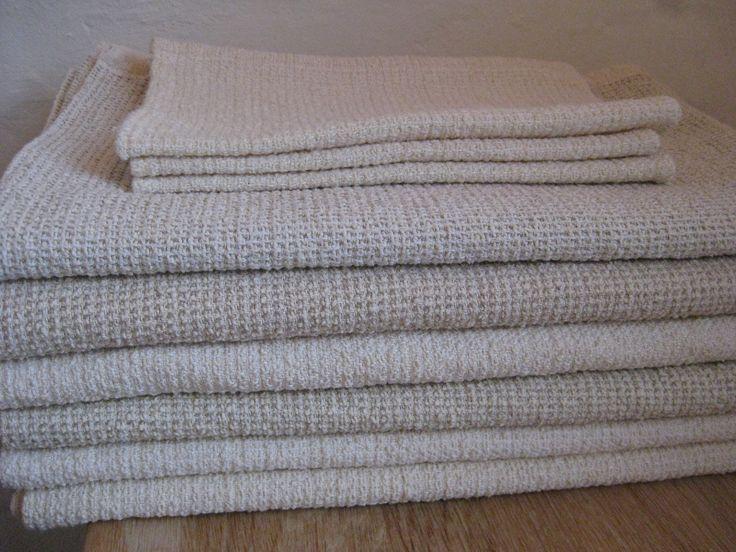 Hør/bomulds badehåndklæder