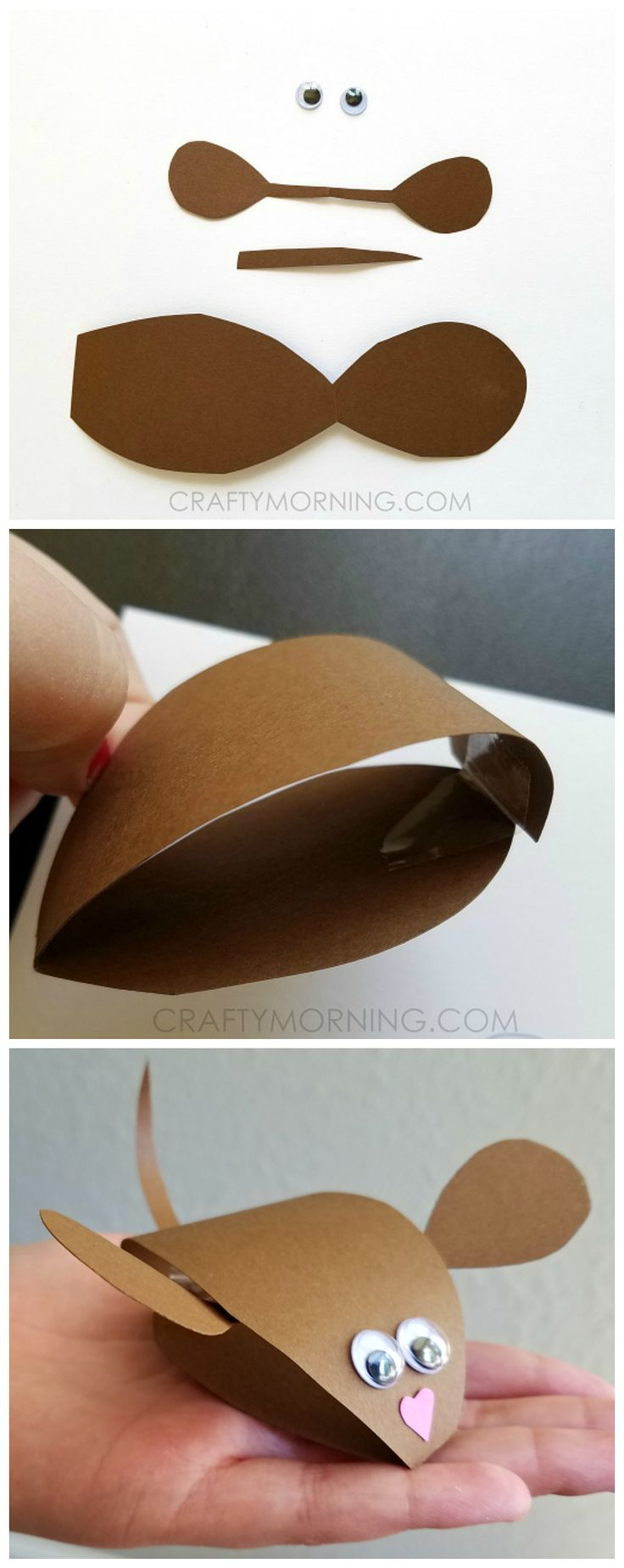Ready rats diy mini scrapbook my crafts and diy projects - 3d Paper Mouse Craft For Kids