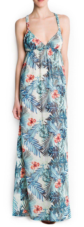 MANGO Floral Maxi Summer Dress