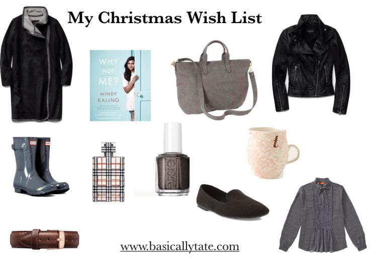 My Christmas Wish List // Basically Tate