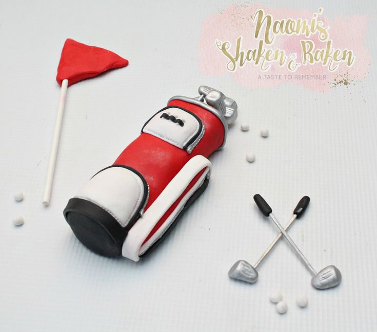 Golf cake topper set  #edibletopper #topper #caketopper #cakedecoration #cupcakes #cupcaketopper #edible #fondant #satinice #gumpaste #naomisshakenandbaken #handmade #cute #birthday #party #brisbane #Australia #goldcoast #sunshinecoast #newsouthwales #sydney #melbourne #adorable #wow #love #golfer #golf #man #men