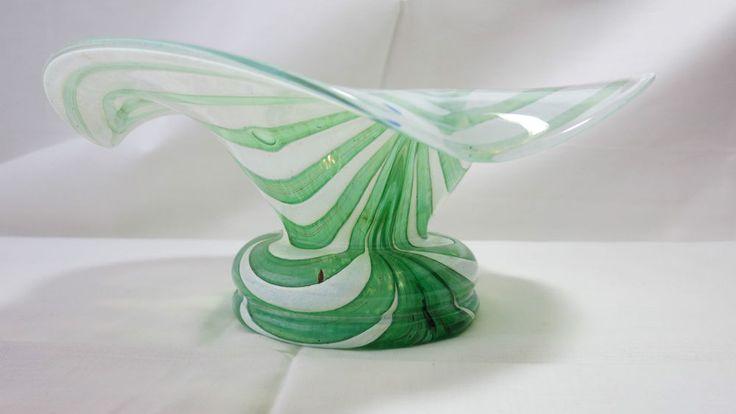 Wunderschöne Glas Schale Franz Austen Glaskunst Blütenform mundgeblasen
