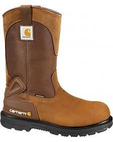 Carhartt Waterproof Wellington Pull-On Work Boots - Steel Toe