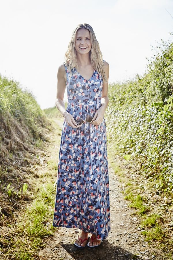 Chrissy Maxi Dress Wild Flowers Forget Me Not
