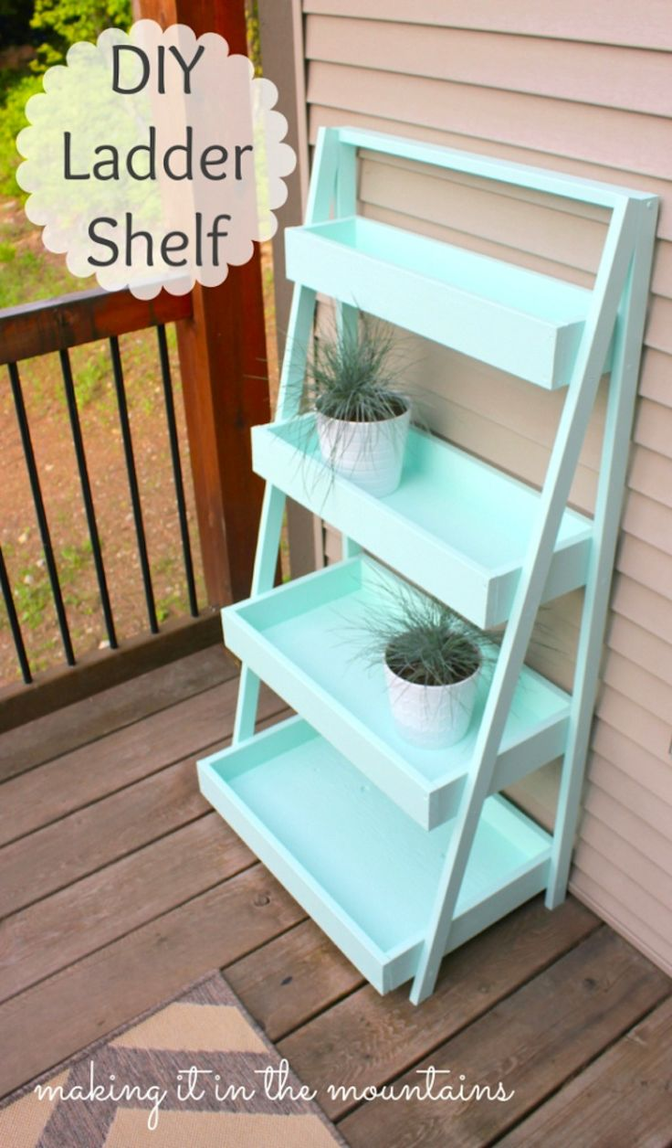 Welcome to Whimsy Wednesday, a link party for bloggers! Today's feature project tutorial is a ladder shelf
