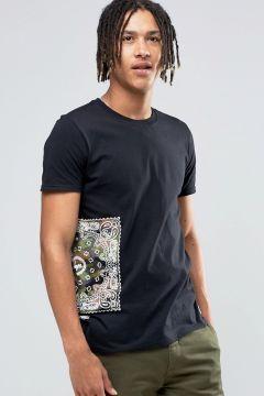 Hype T-Shirt With Bandana Side Print - Green https://modasto.com/hype/erkek-ust-giyim-t-shirt/br1303ct88