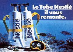 Les tubes de laits Nestlé