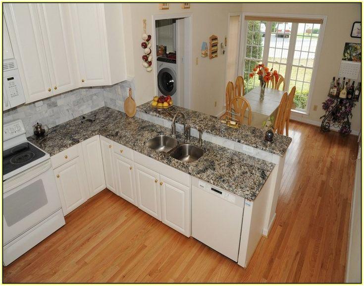 Azul Platino Kitchen With Granite Sink