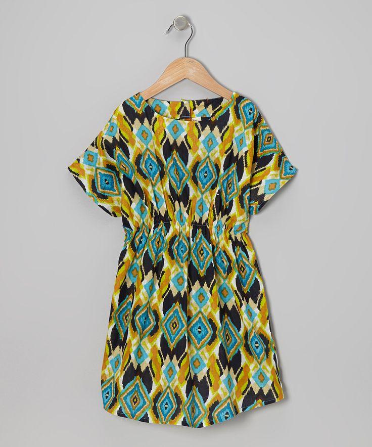 Loving this Yo Baby Turquoise Boho Dolman Dress - Toddler & Girls on #zulily! #zulilyfinds