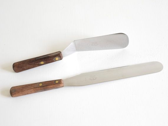 Set of 2 Vintage Baking Accessories Palette Knife by Wohnstadt