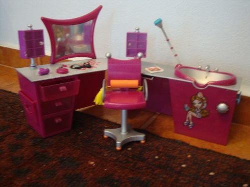 salão de beleza bratz my scene barbie fashion royalty