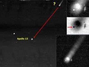 Fotografías de OVNIs que rodean el módulo Apolo 13