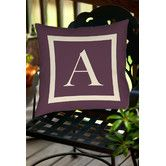 Found it at Wayfair - Classic Block Monogram Polyester Throw Pillow