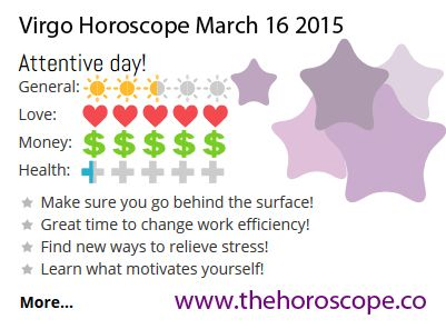 Attentive day for #Virgo on March 16th #horoscope ... http://www.thehoroscope.co/horoscope/Virgo-Horoscope-today-March-16-2015-2609.html