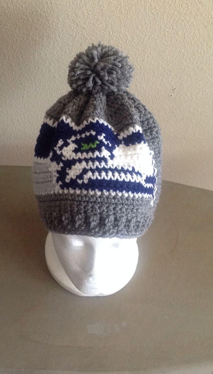 Crochet Seahawks hat go Seahawks