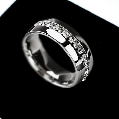 Wedding Ring For women Gold Silver Crystal Cubic Zirconia Eternity 316L Stainless Steel Rings