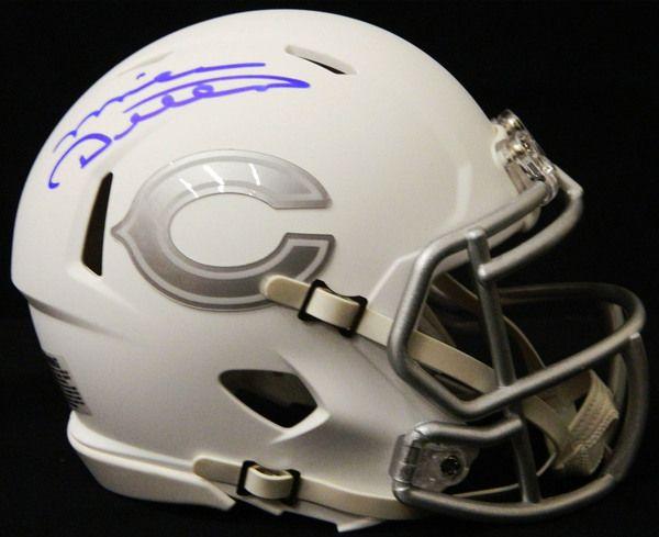 Mike Ditka Signed Chicago Bears White Ice Riddell Speed Mini Helmet - Schwartz COA