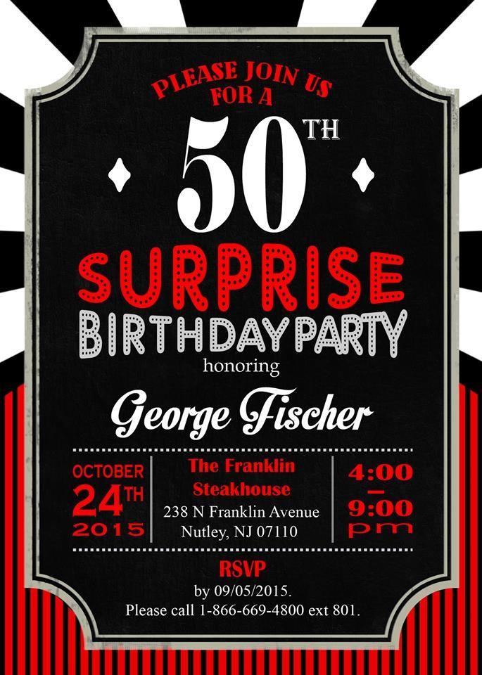 Casino Themed Invitations | Pastor Fischer's Surprise 50th ...
