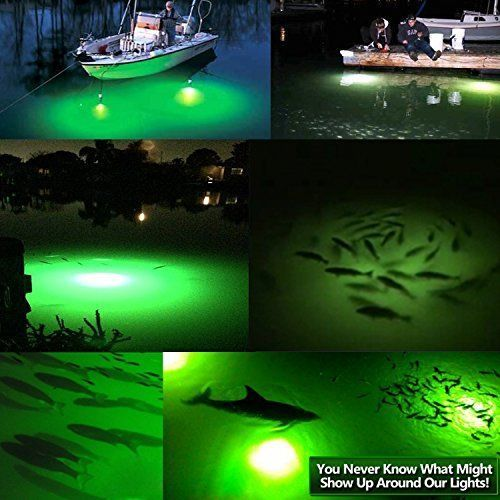 LED White Night Light 12V Fishing SMD Underwater Boat Submersible Baits Light