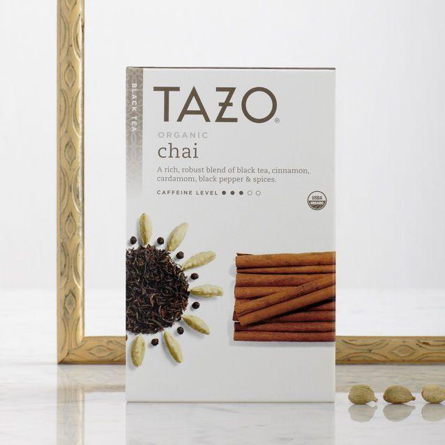 Starbucks -Thé biologique en sachet Tazo® Organic Chai - 5.75$ pr 24  ***MON PRÉFÉRÉ DU MOMENT!!!*** Disponible ailleurs aussi, bte peut être différente!