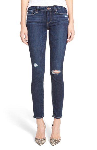 Paige Denim 'Skyline' Ankle Peg Jeans (Elia Deconstructed) available at #Nordstrom