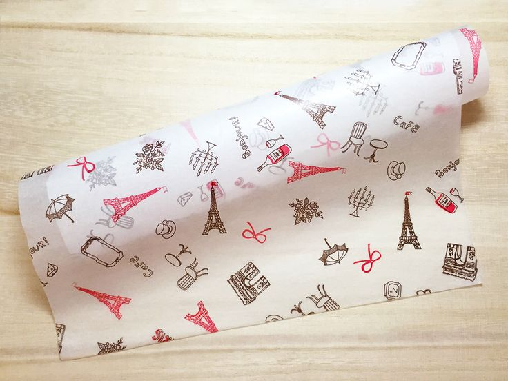 Paris Cafe Food Wrapping Paper - Brown & Red (10 Sheets / 25cm x 35cm) Cake Wax Paper Greaseproof Paper Candy Wrap Paper P0237 by TinyBees on Etsy https://www.etsy.com/listing/241545557/paris-cafe-food-wrapping-paper-brown-red