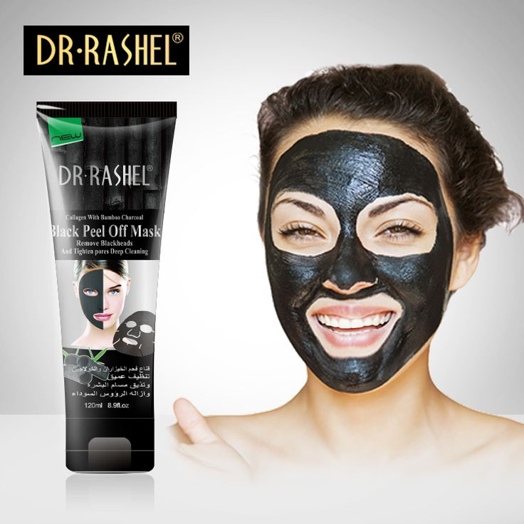 DR. RASHEL Saug Schwarz Maske Nase Mitesser Entferner Peel Off Gesichtsmaske Akne-behandlung Kollagen Mit Bambuskohle 120 ML