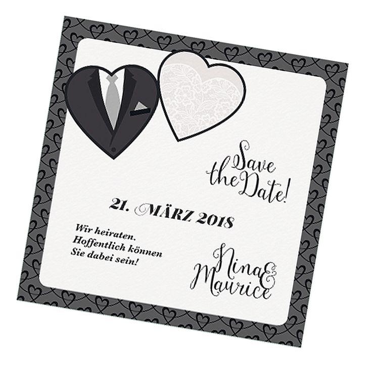 Save the Date Karte auf schimmernden Premiumkarton online bestellen bei Top-Kartenlieferant in Aachen