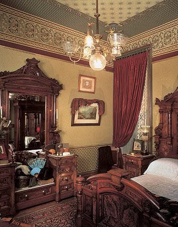 Bath remodeling in Lincoln, Nebraska. Victorian Architecture Styles: A  Victorian bedroom in the Anglo-Japanese style.