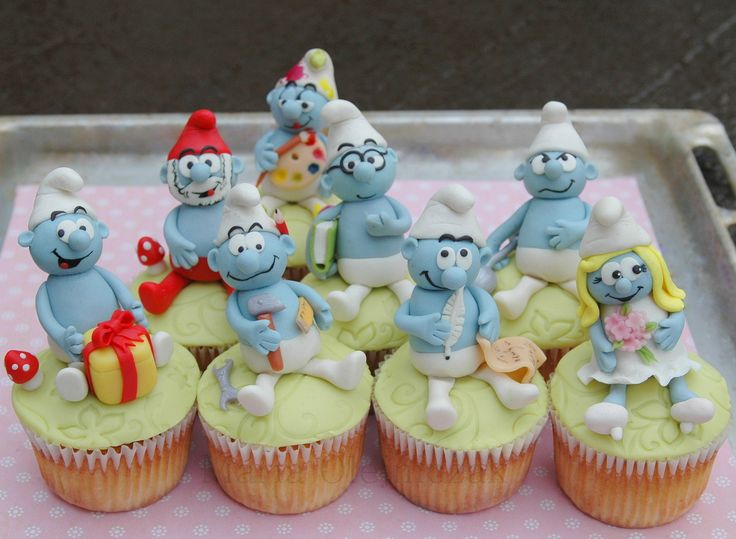 Smurfs cupcakes | by Maria Olejniczak