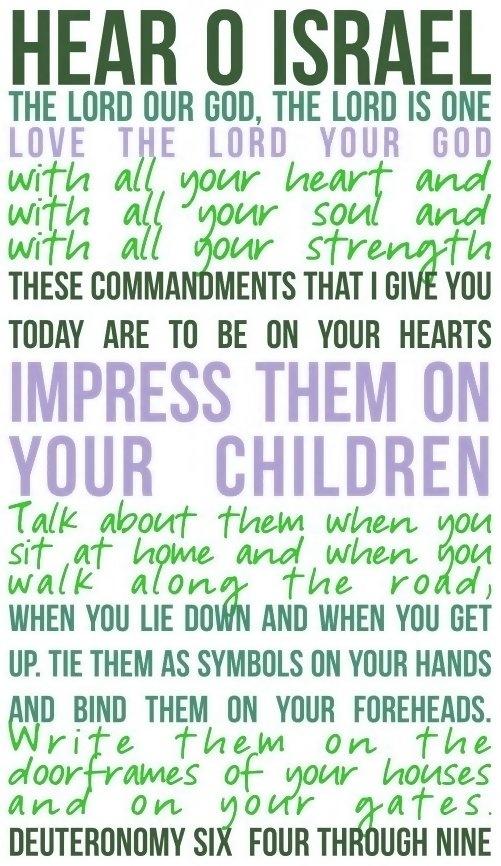 Deuteronomy 6:4-9.